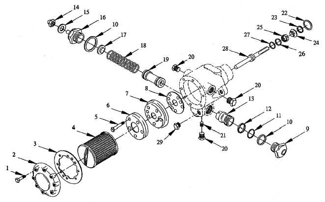 FIGURE C-8. FUEL PUMP ASSEMBLY (MODEL M80)