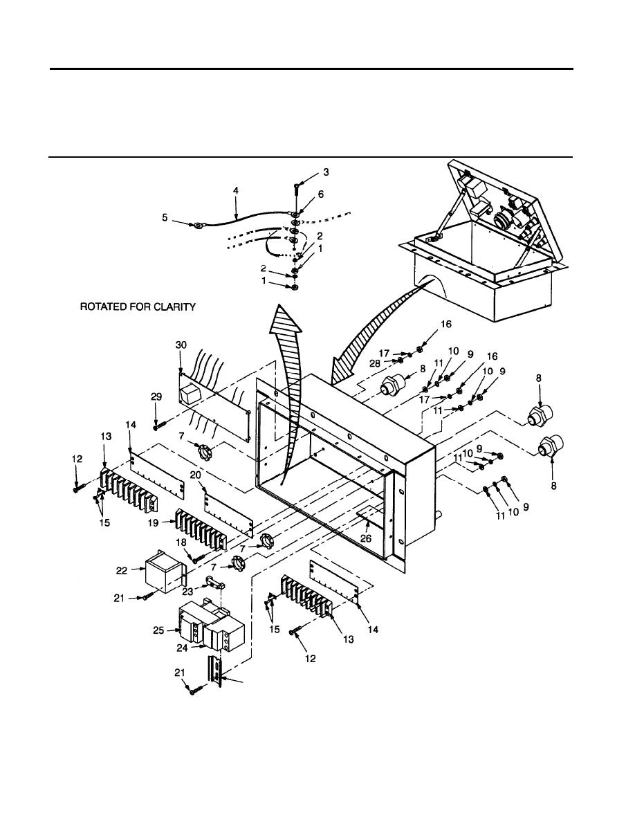 Figure 12. Ground Wire, Terminal Strips, Transformer and