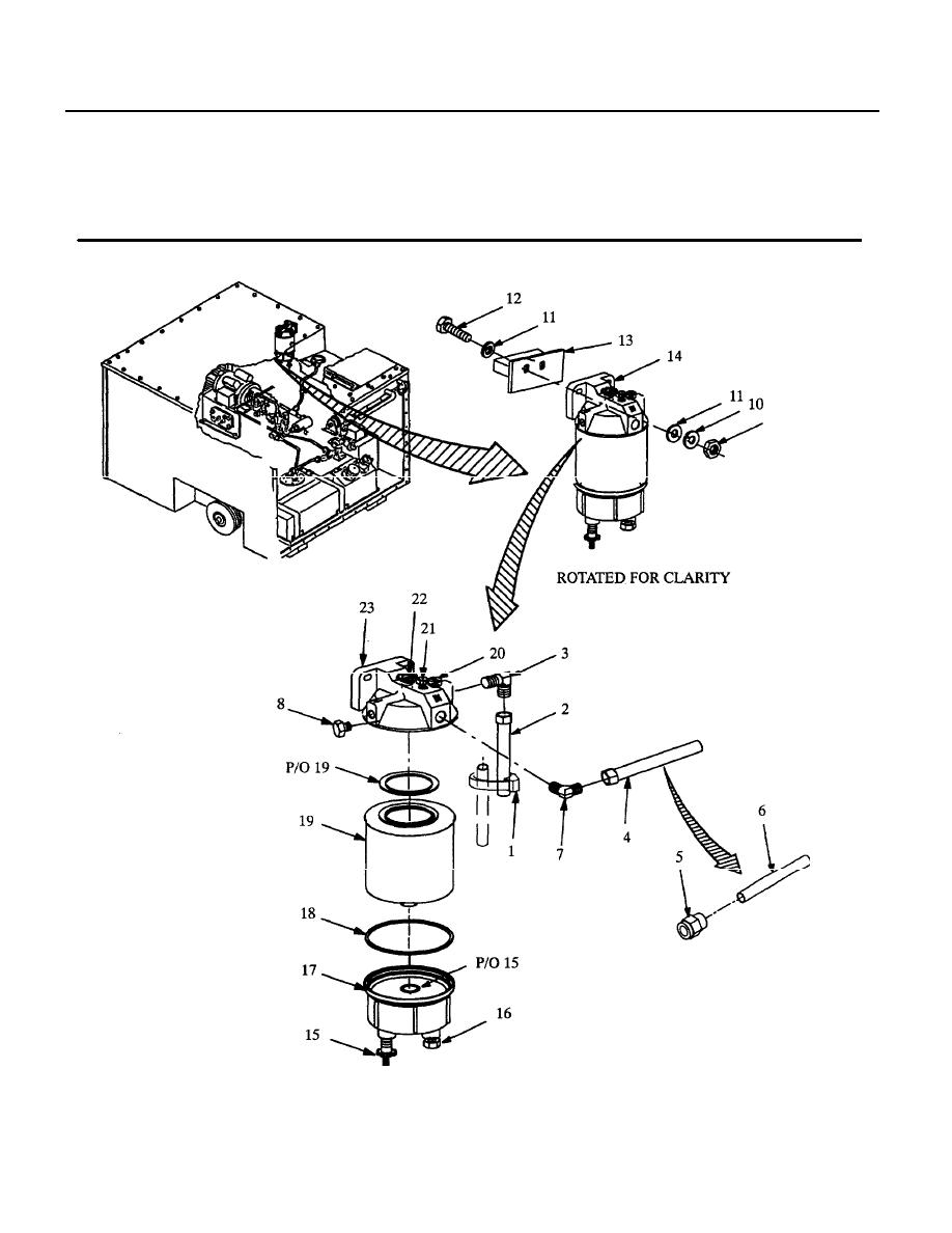 Figure 22. Fuel Filter, Fittings and Tube Assemblies.