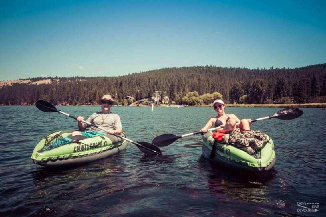 Kayaking outside of Coeur d'alene , Idaho photo credit: Kerensa Durr