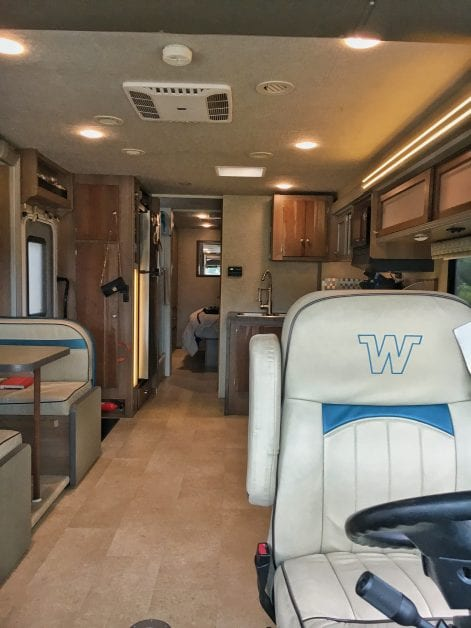 View of the interior of Winnebago Brave