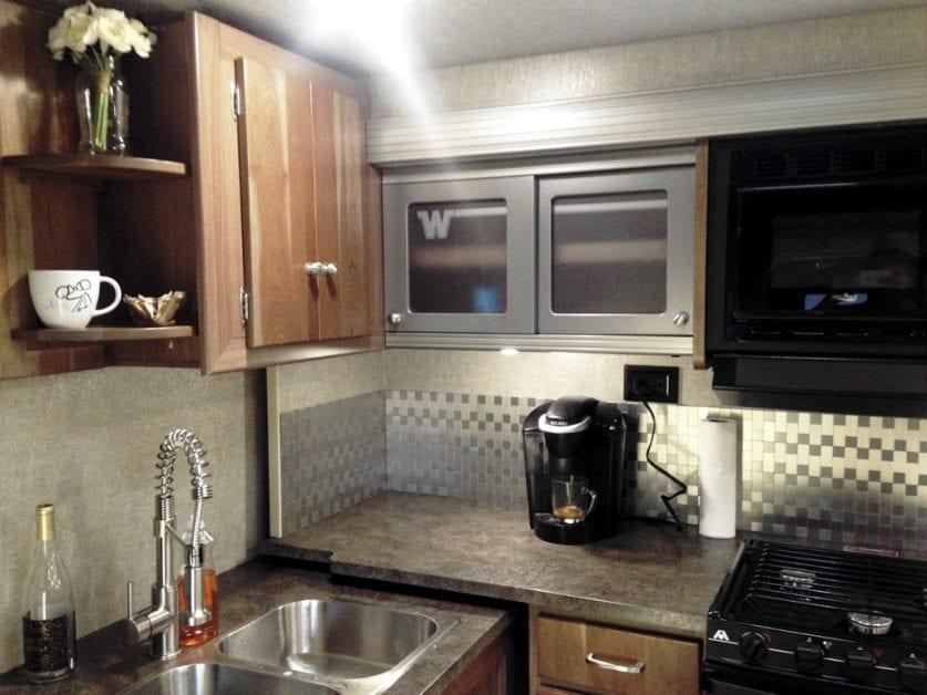 Kitchen in our Winnebago RV
