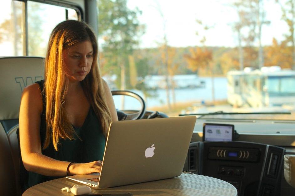 working in the rv alyssa