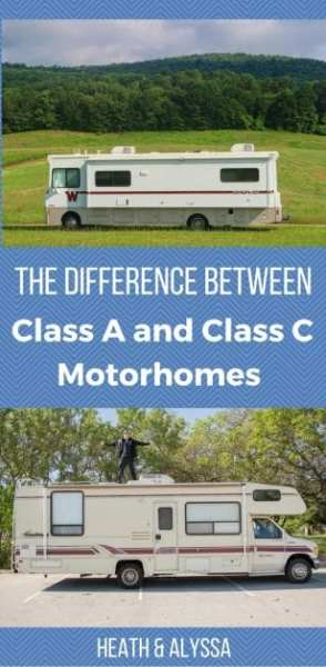 The difference between class a and class c motorhomes