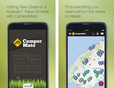 campermate helps you find the best campsites in New Zealand