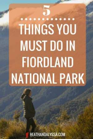 things to go in fiordland