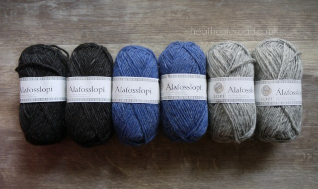 Alafosslopi colour selection, narural black, denim heather, ash heather.