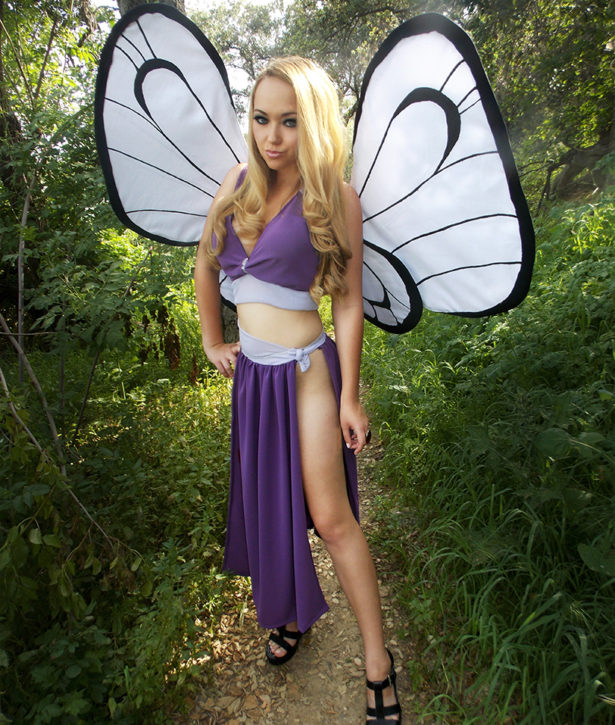 Heather Spears Pokemon Butterfree Cosplay modeled by Sarah Spears