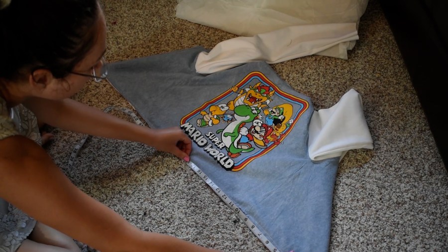 T-shirt to Jacket DIY - Step 10 Measure Bottom Edge