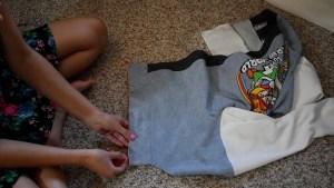 T-shirt to Jacket DIY - Step 12 Finishing Snap Closure Area