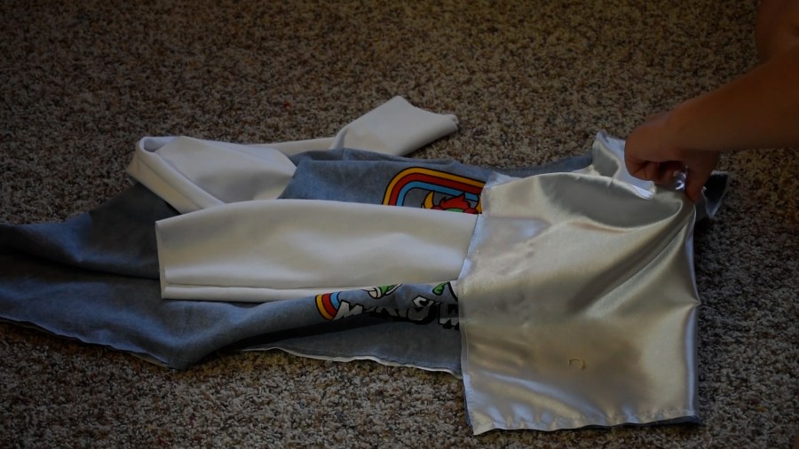 T-shirt to Jacket DIY - Step 8 Applying the Sleeves