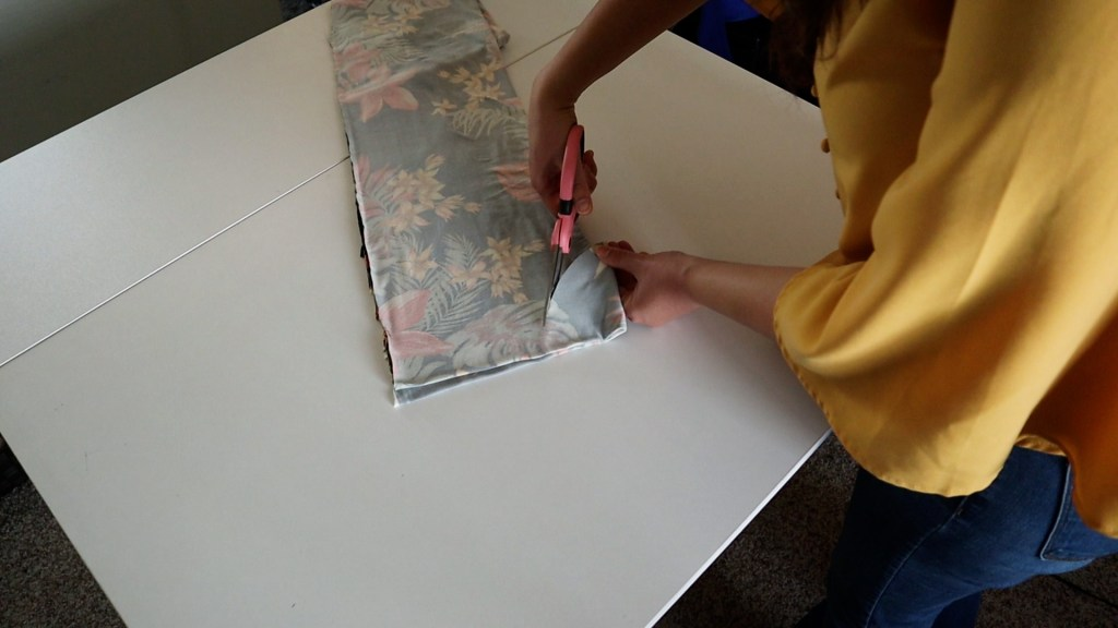 Easiest DIY Maternity Dress Step 5 Cutting Neck Hole