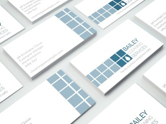 Branding, business card and flyer design for a local business. Freelance work.