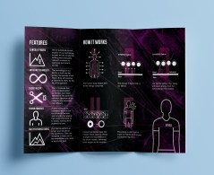 Freelance leaflet design for KYMIRA, a sportswear brand.