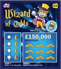 Scratchcard and online game design for Rieves Lottery.