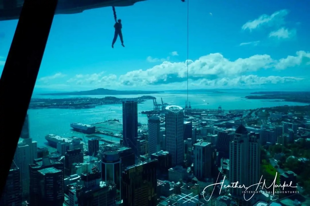 view from Auckland Sky Tower