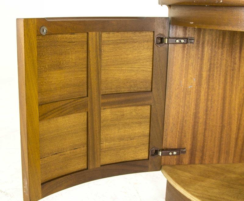 B440 Mid Century Modern Teak Corner Cabinet, Curio Cabinet