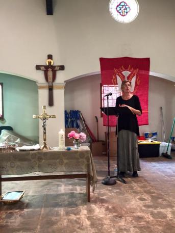 Helping with the liturgy at HOPE L.A. where our sanctuary reminds us daily that we are all a work in progress