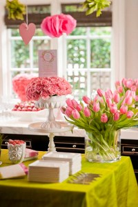 Pink and Green Baby Shower | Heather Christo