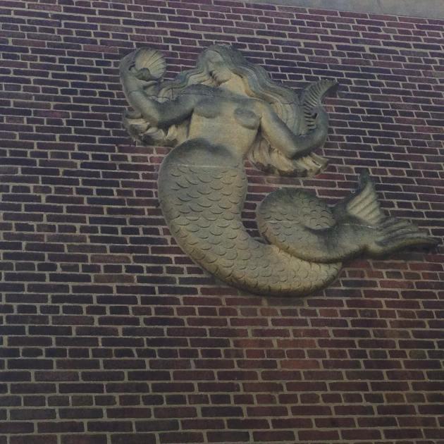 uob mermaid wall