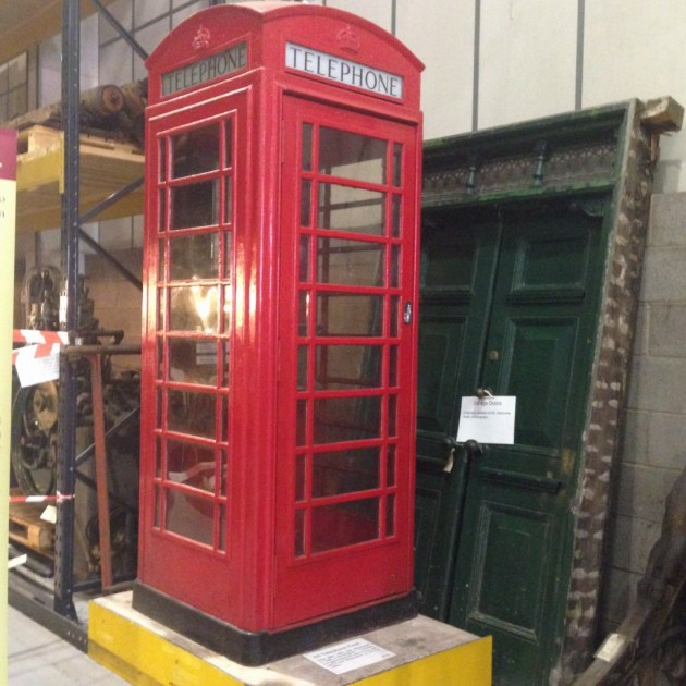 museum collections centre red phone box