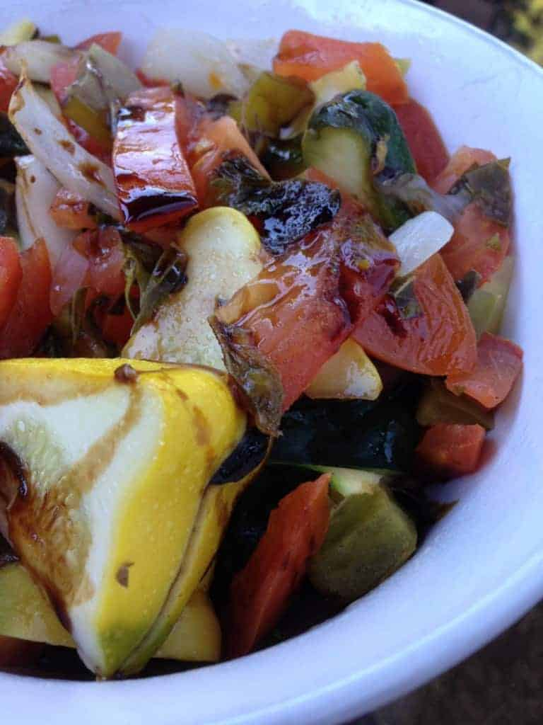 roasted veggie medley in a bowl