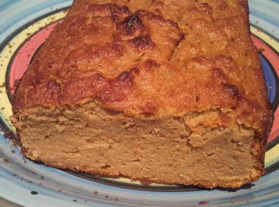 Pumpkin Bread Loaf on Plate