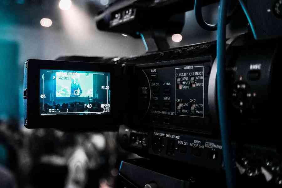keto documentaries: TV camera filming a scene