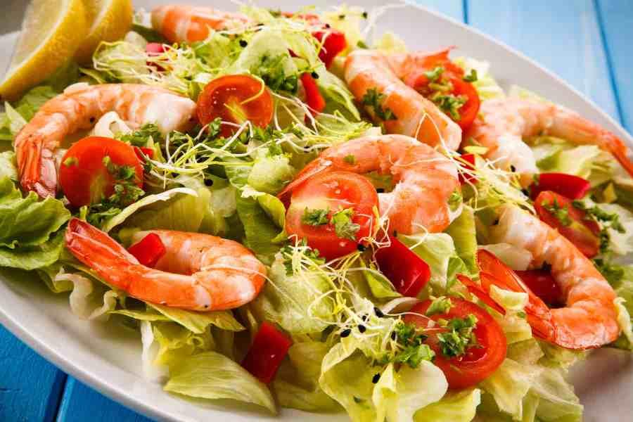 Shrimp Fajita Salad (Keto, Paleo, Whole30, Vegetarian)