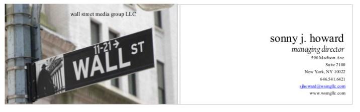 wallstreetbusinesscardsign