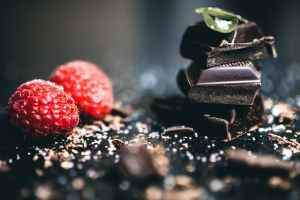 chocolates with raspberries