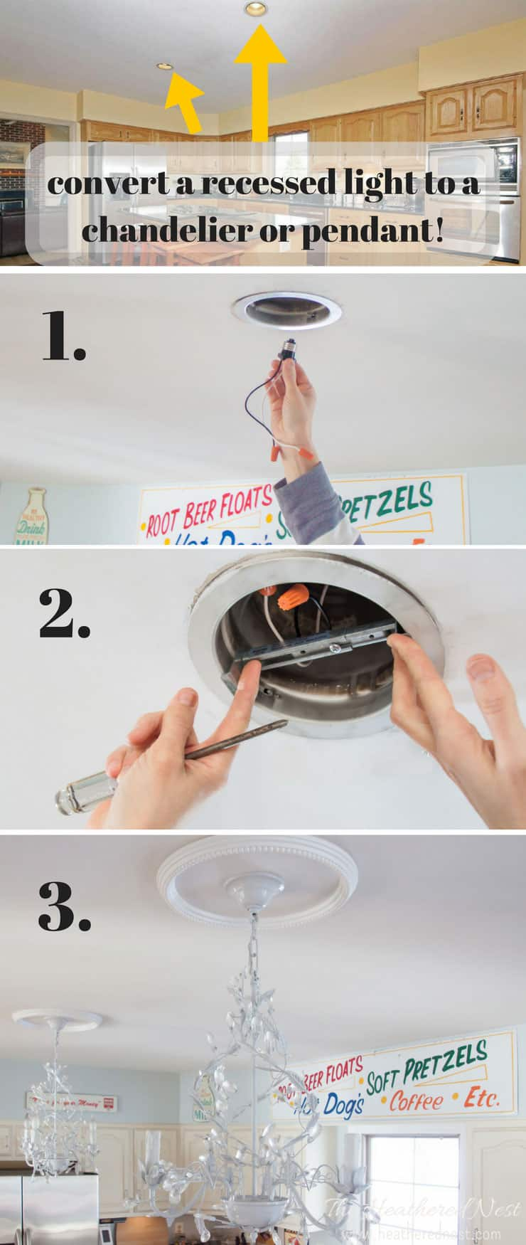 Converting Fluorescent Recessed Kitchen Light Diy