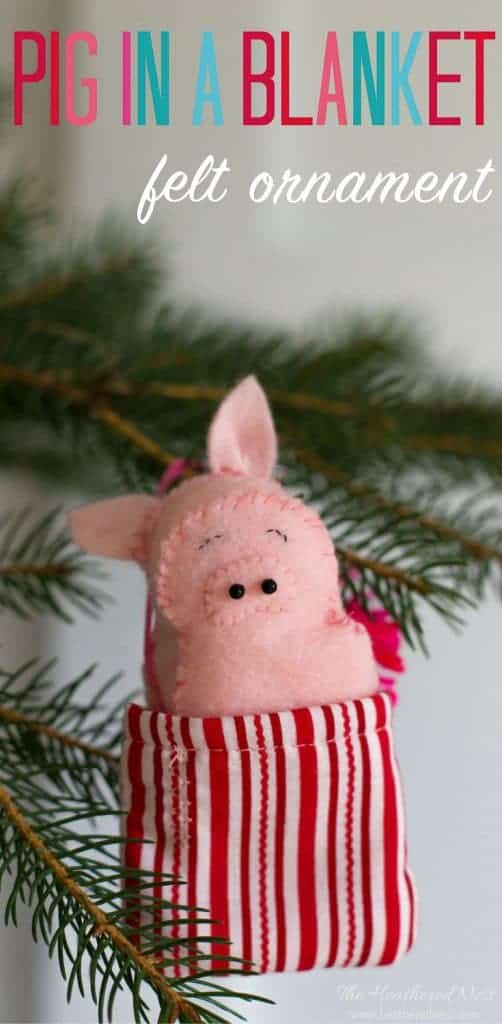 Pink Pig Christmas Ornaments