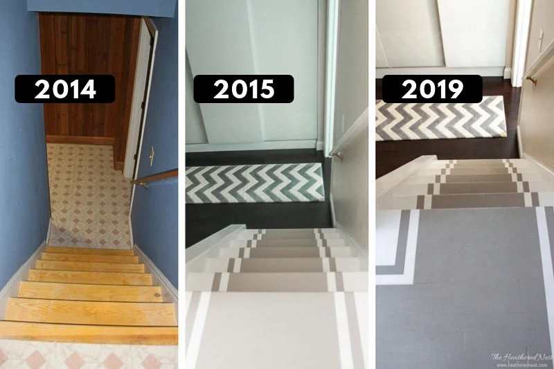 Painted Stair Treads Pros Cons Durability The Heathered Nest | Best Wood To Use For Stair Treads | Oak | Stair Stringers | Carpet Treads | Stair Nosing | Stringers