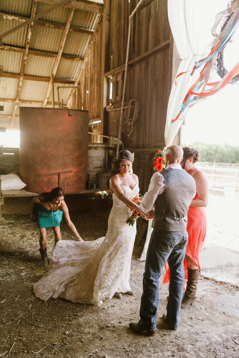 Central Valley Barn Wedding