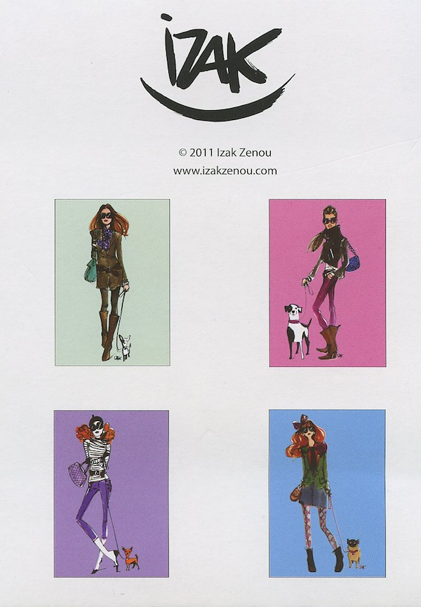 A pack of greeting cards featuring Fabulous Fashion Illustration by Izak Zenou.