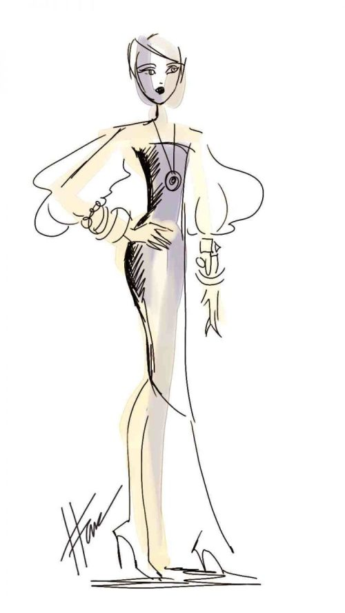Fashion Sketch created on Corel Painter 12