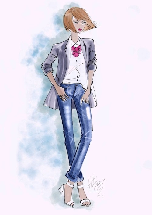 Fashion Illustration with Corel 12 Watercolor Brushes by Heather Fonseca