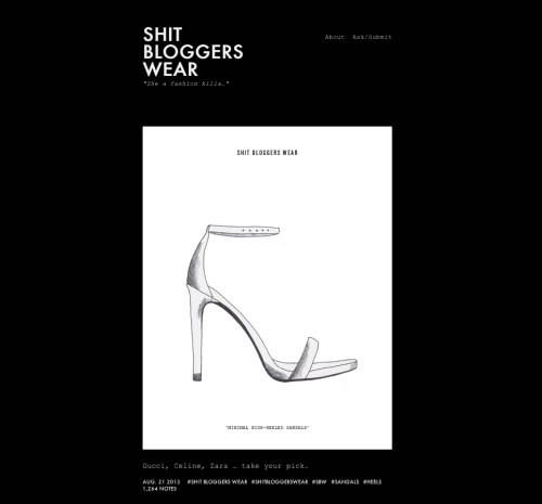 Favorite Fashion Illustration Blogs - Shit Bloggers Wear