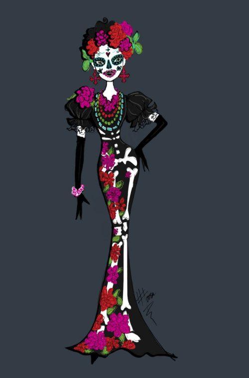 Dias de los Muertos Doll Design Illustration