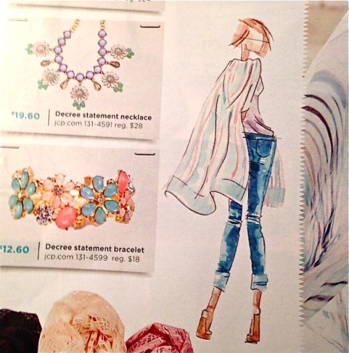 Fashion Illustration in JCPenny Catalogue