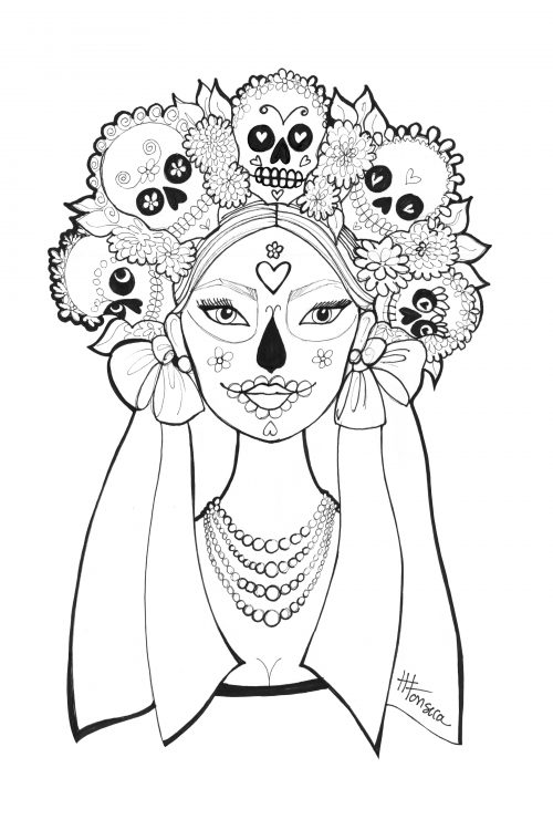 - Free Day Of The Dead Coloring Pages