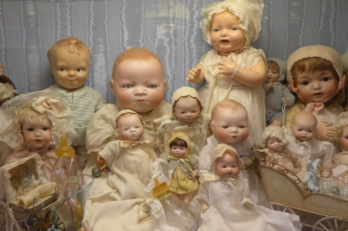 Vinatge Baby Dolls on display at Angel's Attic Museum