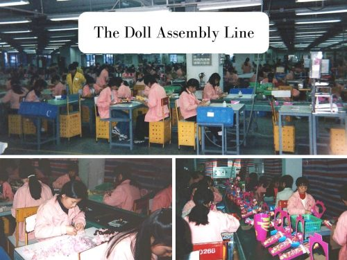 Doll manufacturing: The assembly line