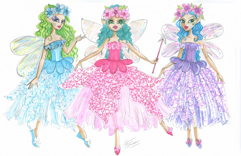 Flower Fairy Doll Design Illustrations