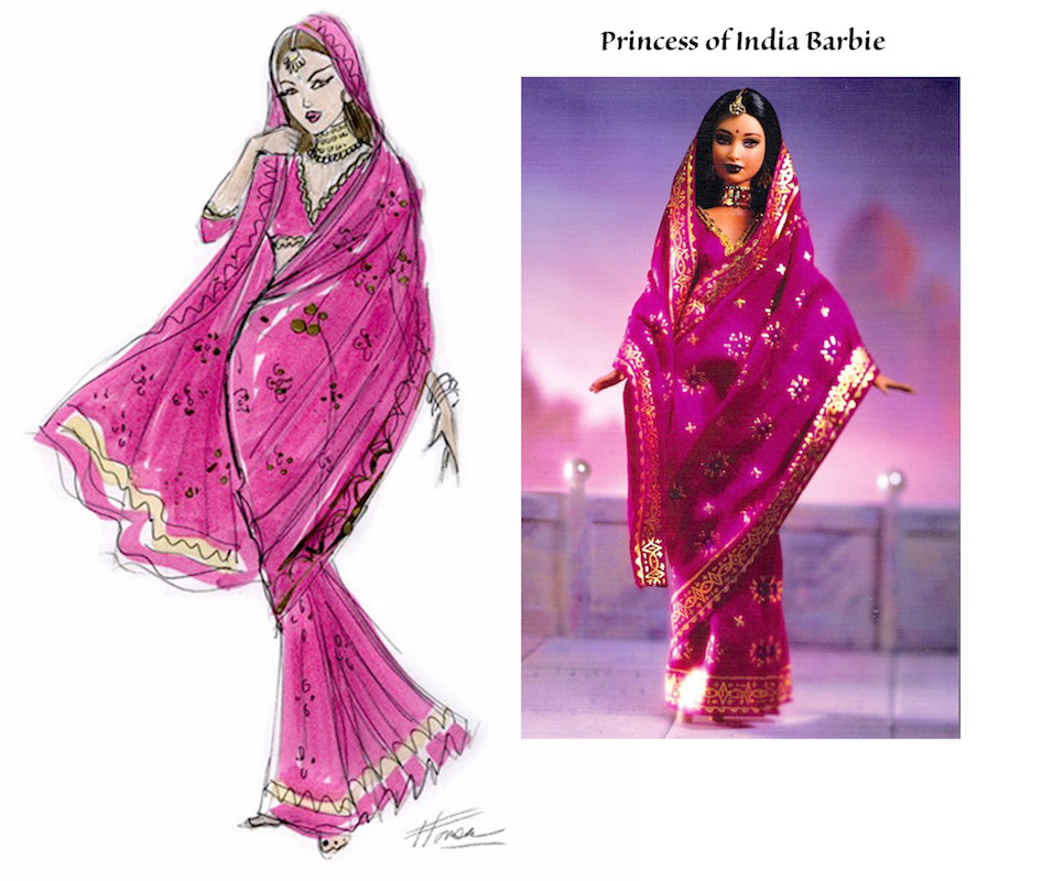Princess of India Barbie Illustration and doll by Heather Fonseca