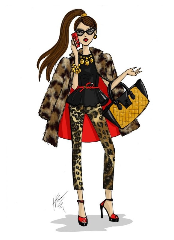 Leopard Print Fashion Doll Design by Heather Fonseca