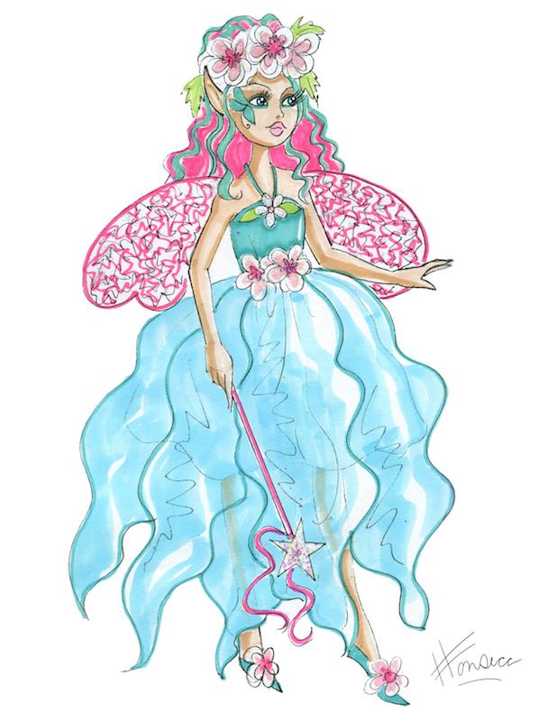 Flower fairy in blue by Heather Fonseca
