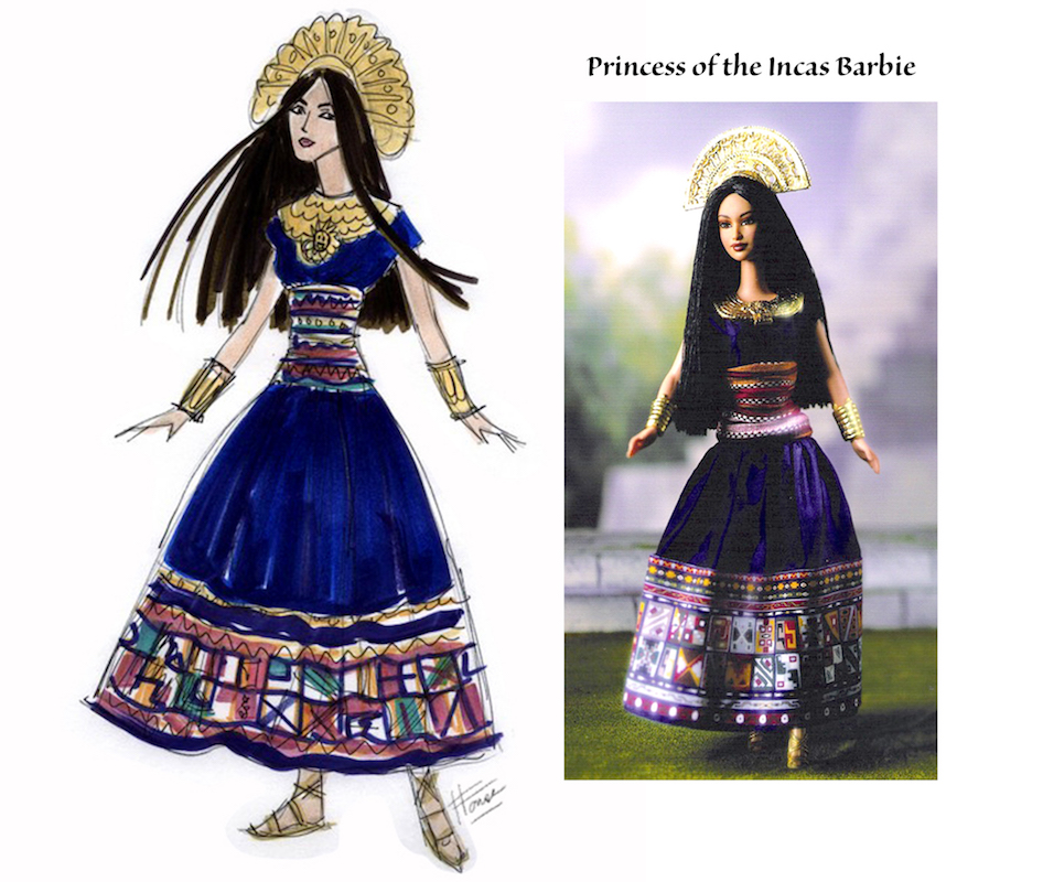 Princess of the Incas Barbie Illustration and doll by Heather Fonseca