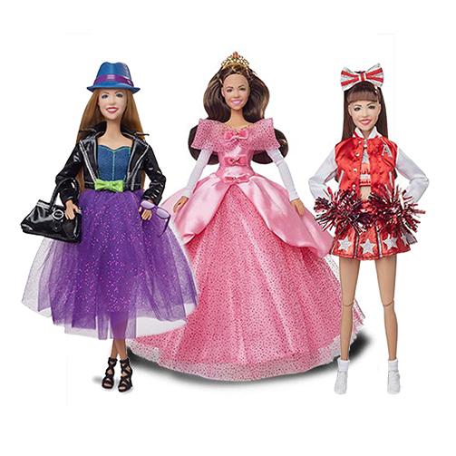 Avastars Dolls Fashionista, Princess and Cheerleader